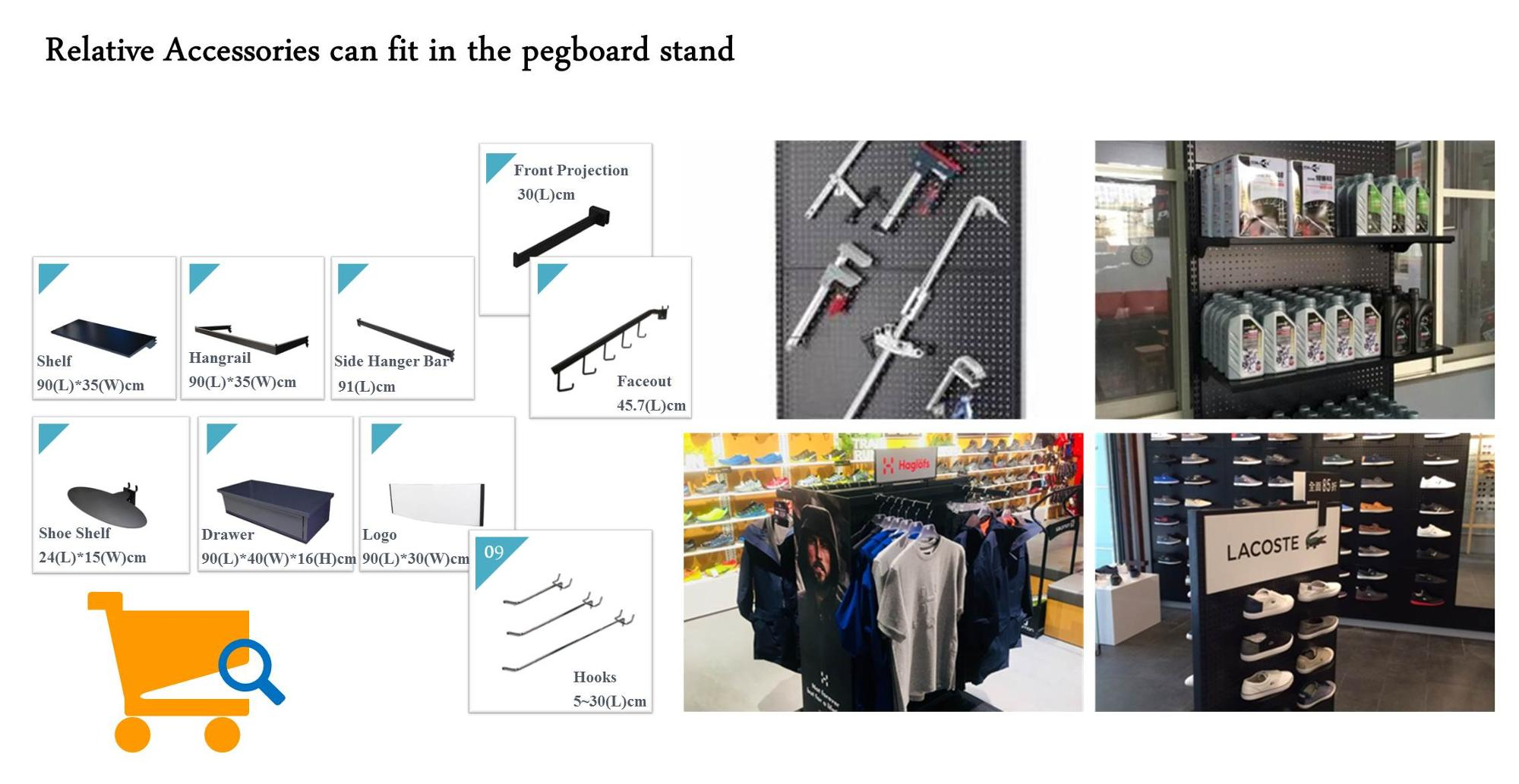 Taiwan swift portable tool shelves pegboard stand