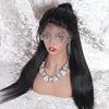 Factory price raw indian hair full lace wig with baby hair