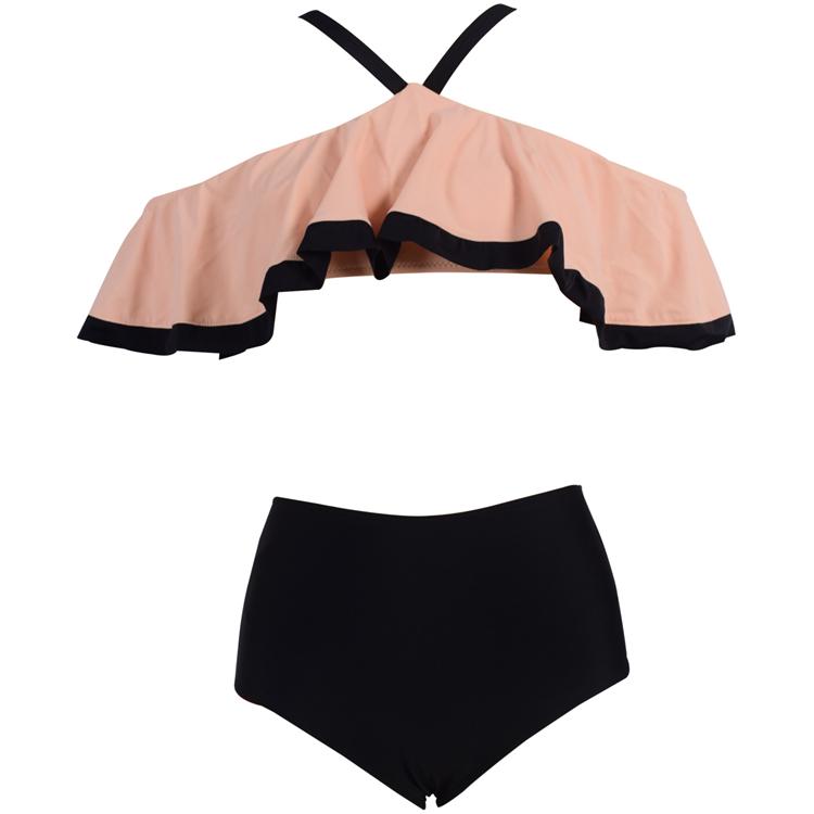 2020 Sexy Bikini Swimwear Women Summer Halter Lace Up Bow