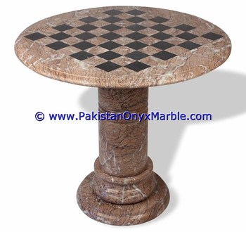 UNIQUE MARBLE TABLES MODERN CHESS TABLE COFFEE NATURAL STONE CHESS FIGURES