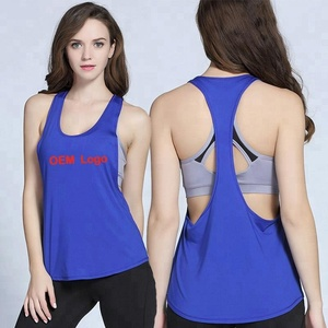 2018 Hot sale women top tank custom made logo stringer women's t back tank top