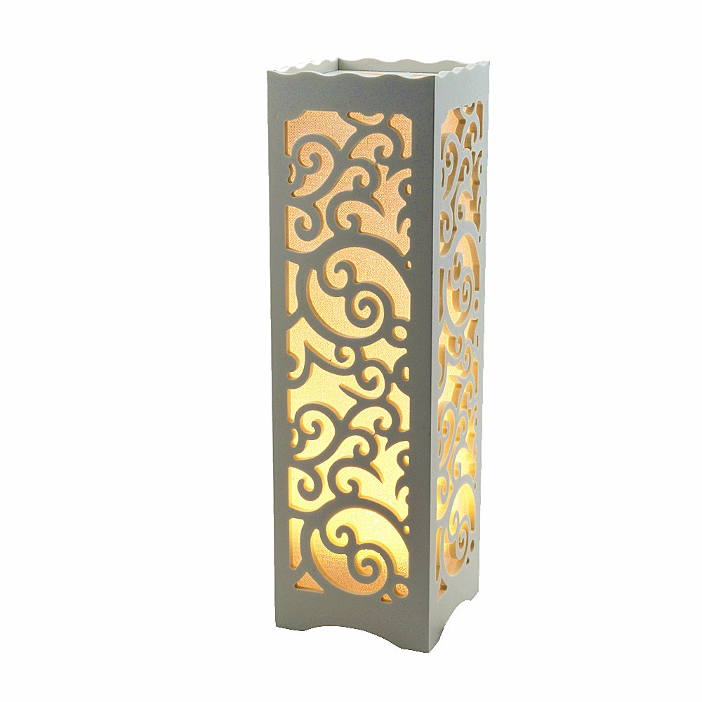 Get Quotations Table Lamps Night Lights White Lampshade Lamp For Bedroom Home Decor Wood Rustic Style