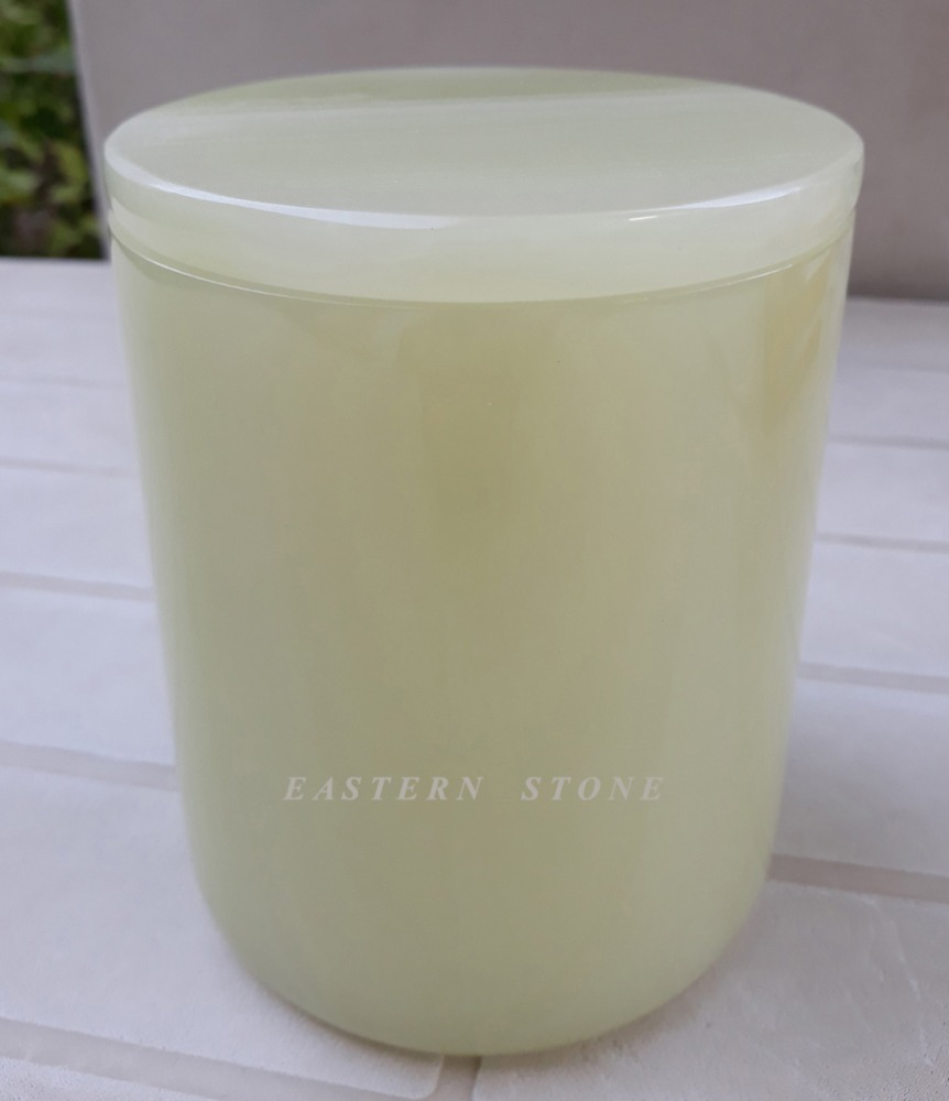 CARRARA BRANCO MÁRMORE, ONYX PEDRA CANDLE JAR, ESTANDE DA VELA, CANDLE HOLDER