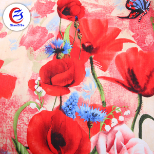 turkish scarf buy fabrics china thobe leaf flower butterfly wrinkle printed polyester fabric