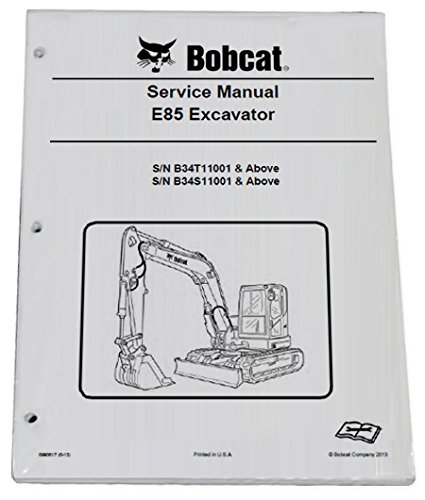 get quotations � bobcat e85 compact excavator repair workshop service manual  - part number # 6990617