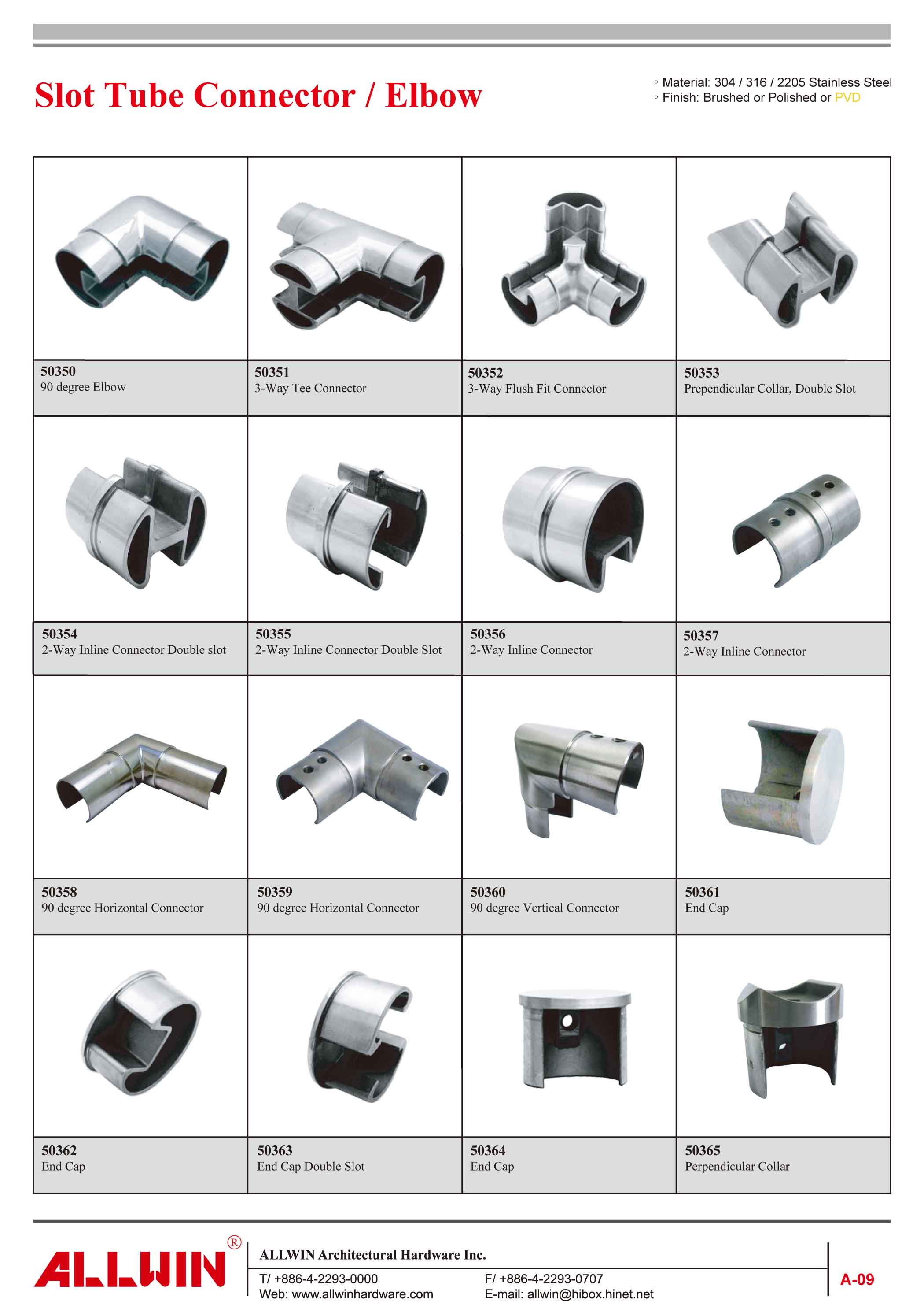 Stainless Steel 2 ways 90 Degree Elbow Rectangular tube Connector
