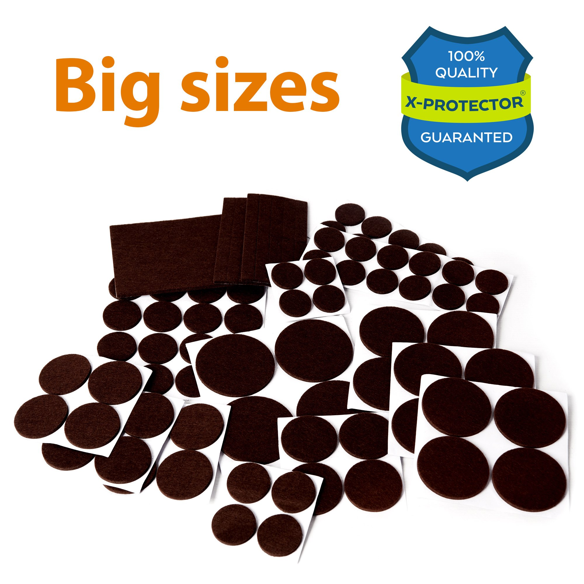 Get Quotations · X PROTECTOR Premium XXL SIZES Furniture Pads! BIG SIZES Of Heavy  Duty Felt Pads