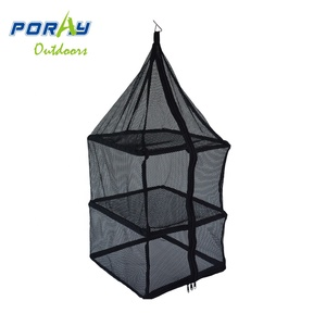 2 Layers Vegetable Fish Dishes Mesh Hanging Dry Net Portable Collapsible Drying Rack Net