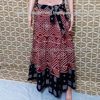 88fe2efa58638 Long Skirt Cotton Thai Tradition Cotton Woman Sarong Wrap Tie Waist ...