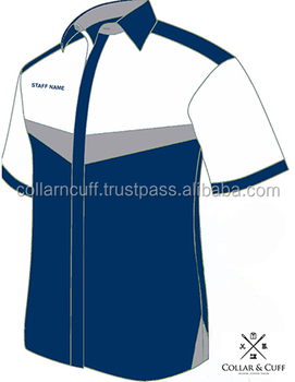 973eed7feb927 Professional Corporate Uniform Shirt Custom Business Workwear 100% Cotton  Oxford