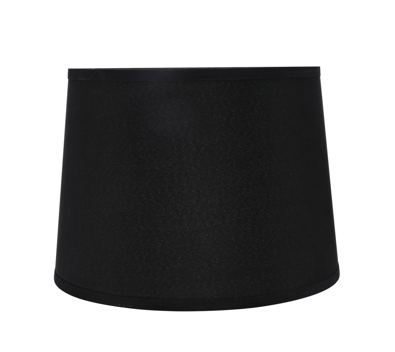 """Aspen Creative 32312 Transitional Hardback Empire Shaped Spider Construction Lamp Shade in Black, 14"""" Wide (12"""" x 14"""" x 10"""")"""