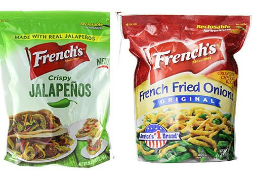French's Two Pack: 24 oz. Bag French Fried Onions PLUS 20 oz. Bag French Fried Jalapenos
