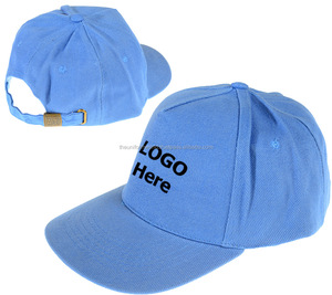 Sky Blue Plain Blank Baseball Caps Hat Cotton Unisex with Adjustable Buckle Strap