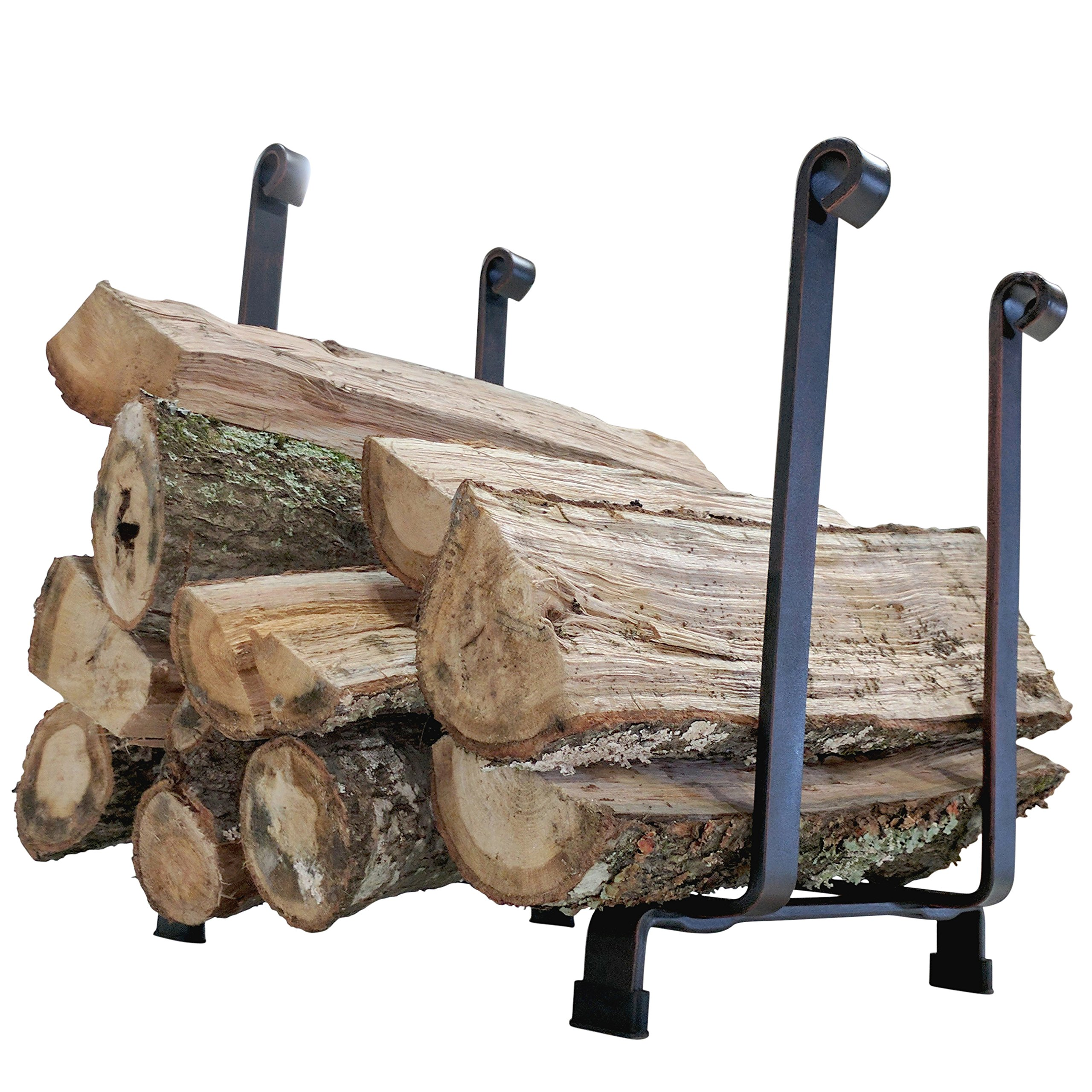"Titan Steel Hearth Firewood Log Rack Storage Holder 18"" H x 17"" L"