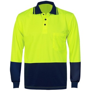 High visibility winter cotton drill workwear shirt