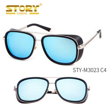 3807a267f1 Historia STY-M3023 IRON MAN 3 Matsuda Steampunk gafas de sol hombres  Vintage de diseñador