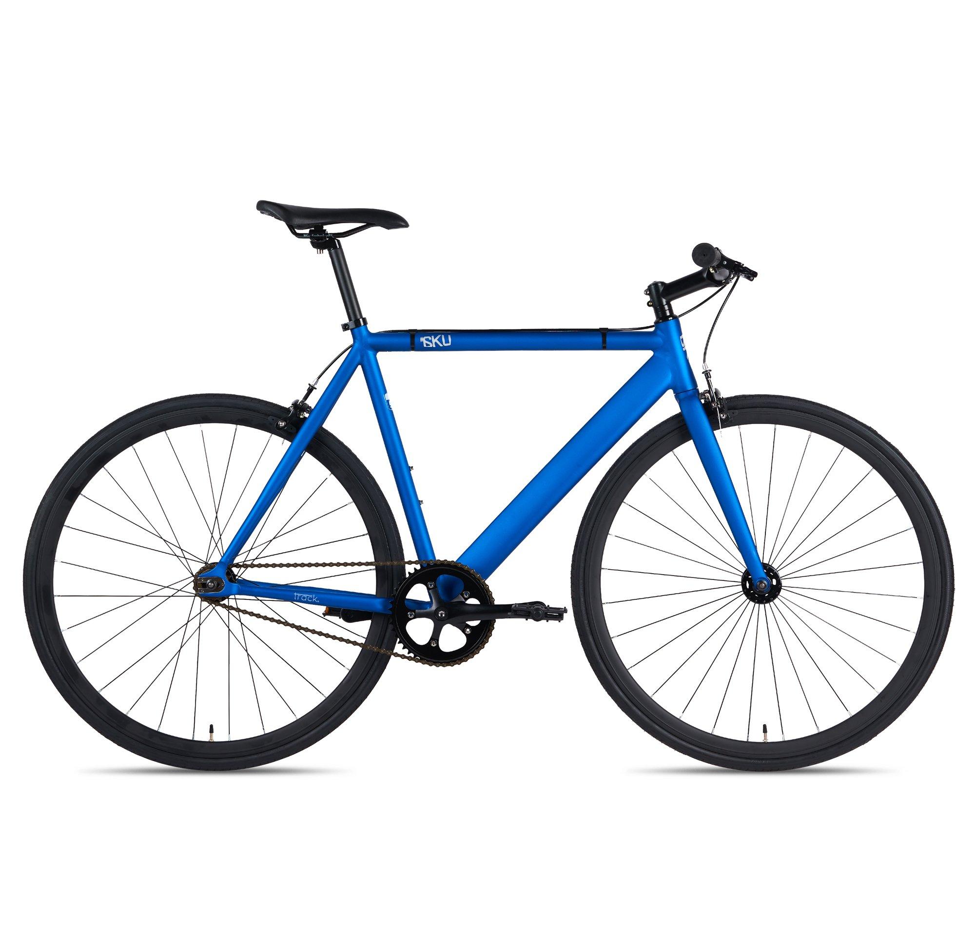 3c9303554bc Get Quotations · 6KU Aluminum Fixed Gear Single-Speed Fixie Urban Track Bike