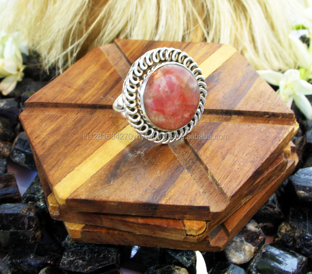 Wired Oxidized 925 Sterling Silver Sunstone Ring Jewelry ,Cabochon Gemstone Jewelry