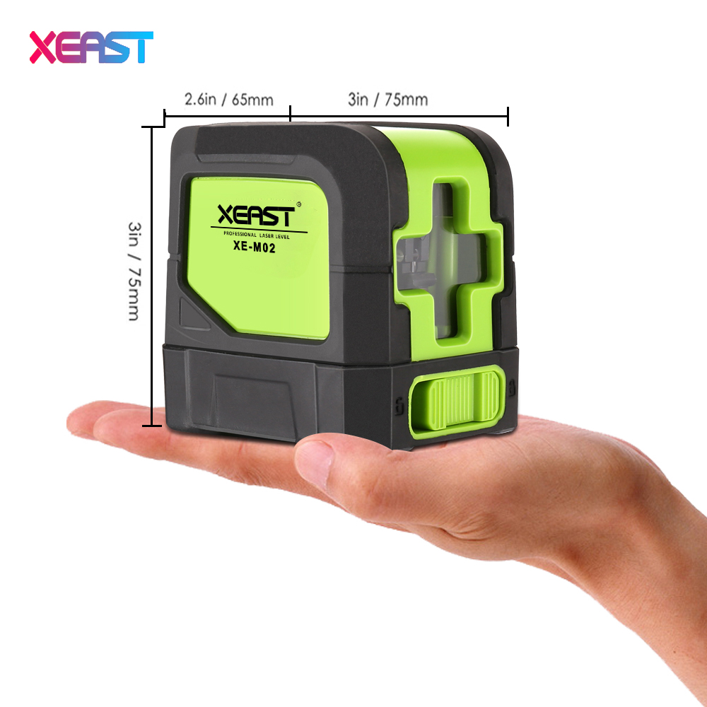 XEAST XE-M02 Cross Line Green Laser Level Supper Light Line Laser Level meter Ourdoor model