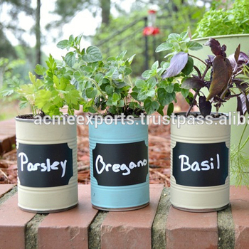 Metal Herb Flower Pot And Planters