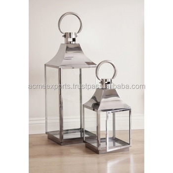 Contemporary Top Seller Candle Stainless Steel Lantern for Home and Party Decoration