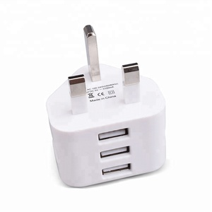 New arrival 2018 3 pin UK Usb wall charger for mobile phone with high quality