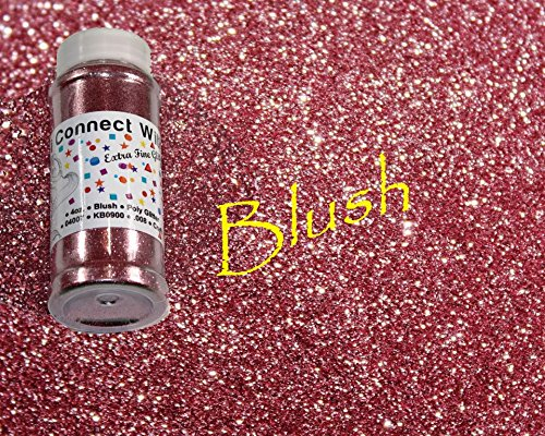 Blush, Extra Fine Poly Glitter 1/128, 4oz Shaker Bottle