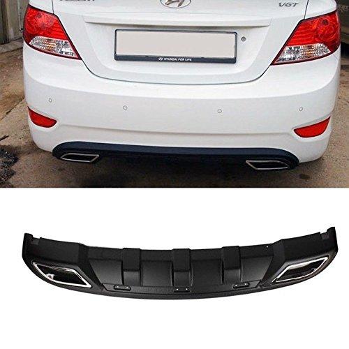 Rear Bumper DIFFUSER Skid Plate Guard Matt Black For 11 12 13 Hyundai Elantra MD