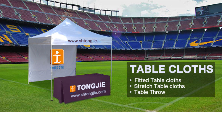 6ft 8ft trade show table runner throw fitted logo custom printed table cloth table cover