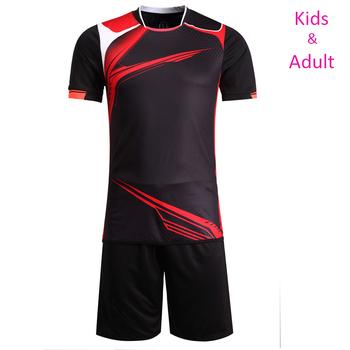1a6e31662978a Llegada niño camisetas de fútbol niños niñas camisetas de fútbol Kits  deportivos Jersey formación uniformes ropa