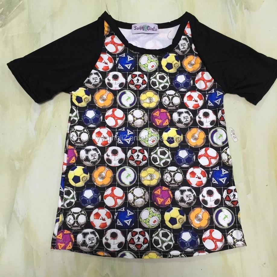 Yy-993 Baby Kids Christmas Shirts Raglan Ruffle Shirt For Christmas ...