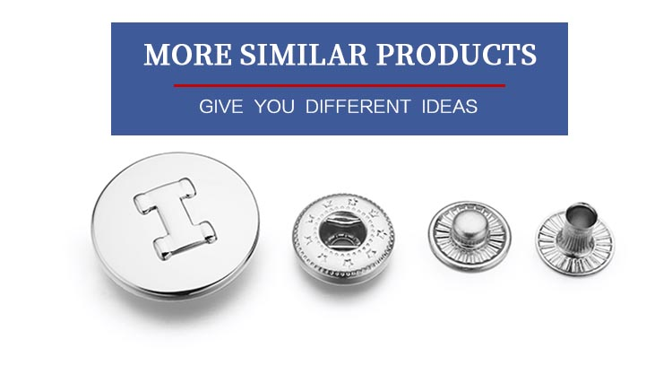 Custom logo 24L epoxy colored press gunmetal snap button fasteners