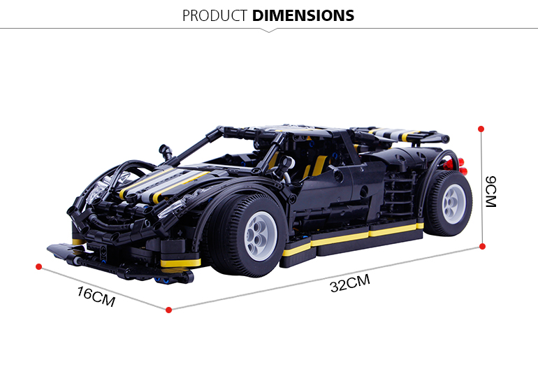Xingbao 07002 Car 1177 piece model