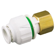 Top selling Plastic Push In Fittings Swivel Union Connector_Brass Nut
