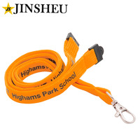 custom logo imprinted promotional school teacher tubular polyester lanyards