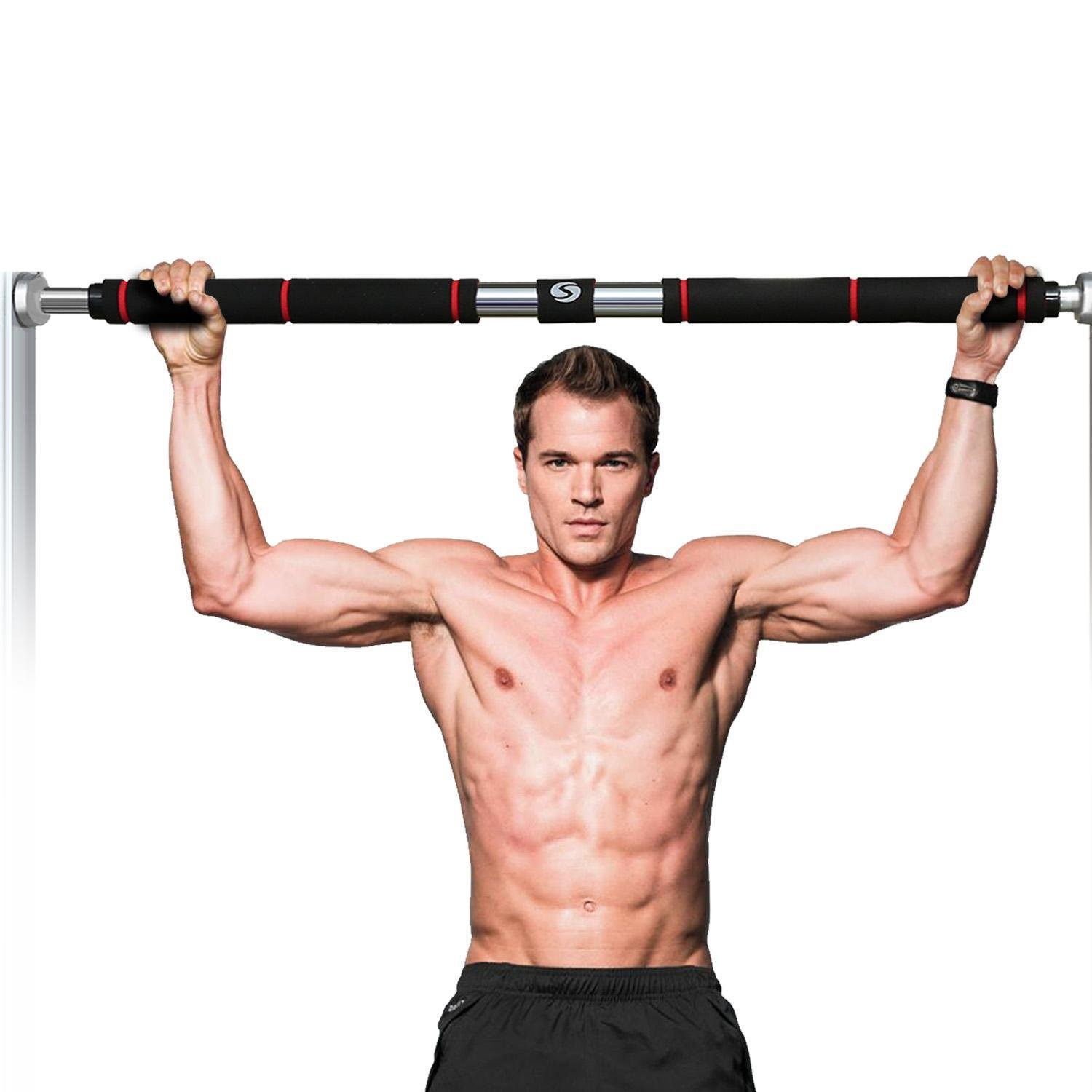 Pull-Up Bar for Doorways,Heavy Duty Doorway Pullup Bar with Comfort Grips Trainer for Home Gym