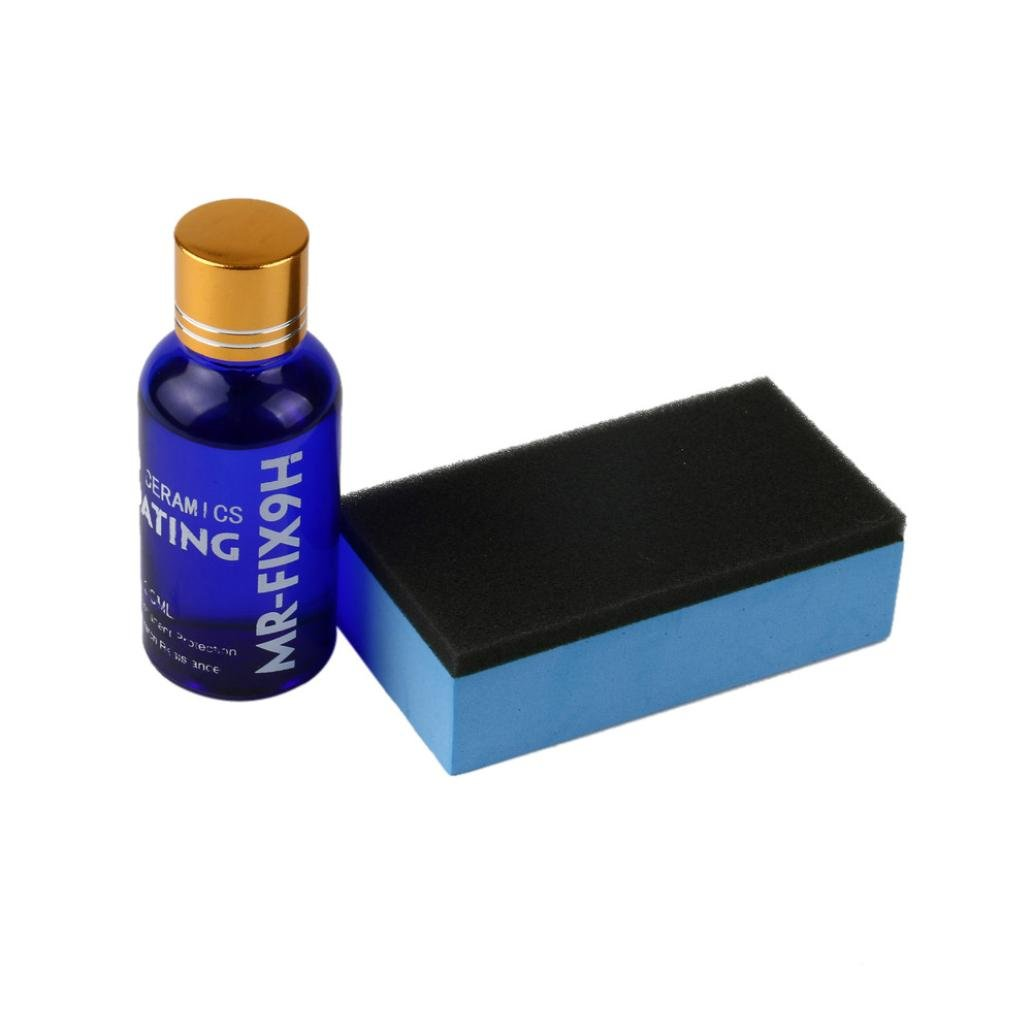 Inkach Ceramic Car Coating Kit, Hydrophobic Glass Coating Car Liquid Auto Paint Care 9H Hardness (Blue)
