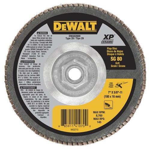 DEWALT DW8350 4-1//2-Inch by 7//8-Inch 24G Type 27 Flap Disc