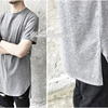 Extended Essential Short Sleeve Back Long Tee - 90cm // Kanye West Style Silky Long T shirt
