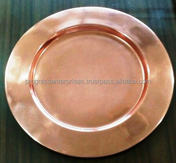 Branded Copper Charger Plate Made In India