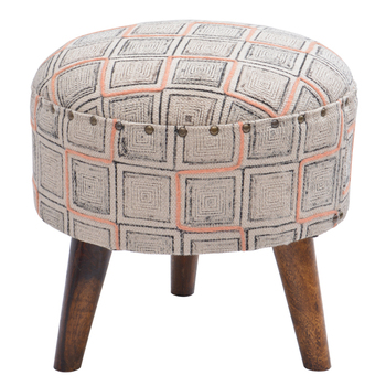 Groovy Square Print Embroidered Round Furniture Stools With 3 Legged Wood Stool Buy Low Wooden Stool 3 Legged Wooden Stool Round Ottoman Stool Product On Alphanode Cool Chair Designs And Ideas Alphanodeonline
