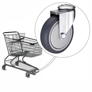 wholesale supermarket 100kg 4 inch shopping cart wheel caster