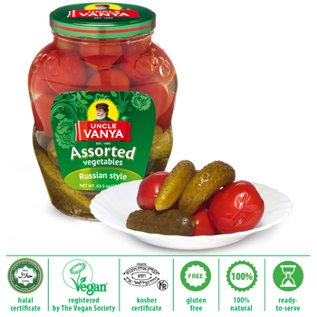 Assorti Vegetables pickled cucumbers and tomatoes 1,8 L