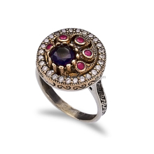 2017 New Fashion Ottoman Ethnic Design Wholesale Handcrafted Authentic Silver Ring Silver Jewellery Online