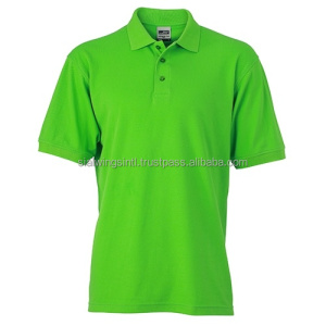 Bright Green 100% cotton custom workwear polo shirt, factory staff uniform polo shirt, Embroidery your logo shirt