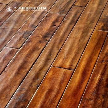 Parquet Hevea 3 Ply 1 Strip Handscred 100 Real Wood Floor