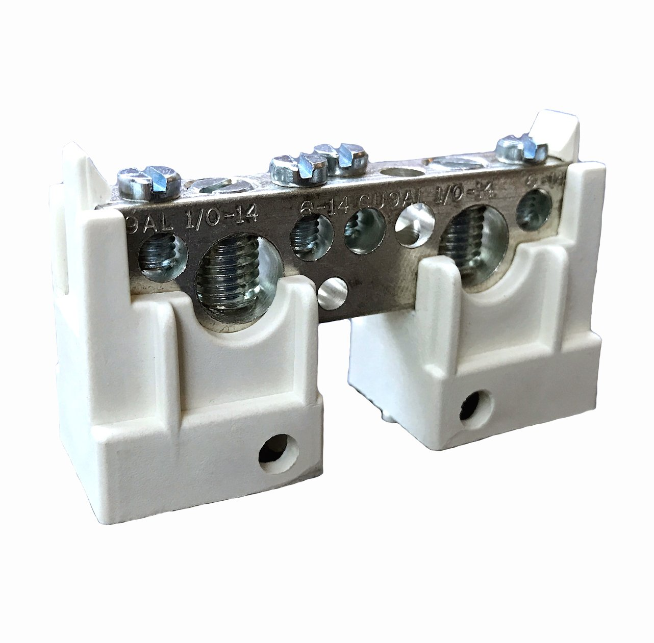 sikiwind 2pcs DC 48V Bus Bar M10 Heavy Duty Positive Power Distribution Studs Terminal Blocks
