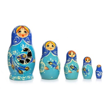 Five piece Vyatskaya Matryoshka, article  C-171 (581) - Souvenir gift