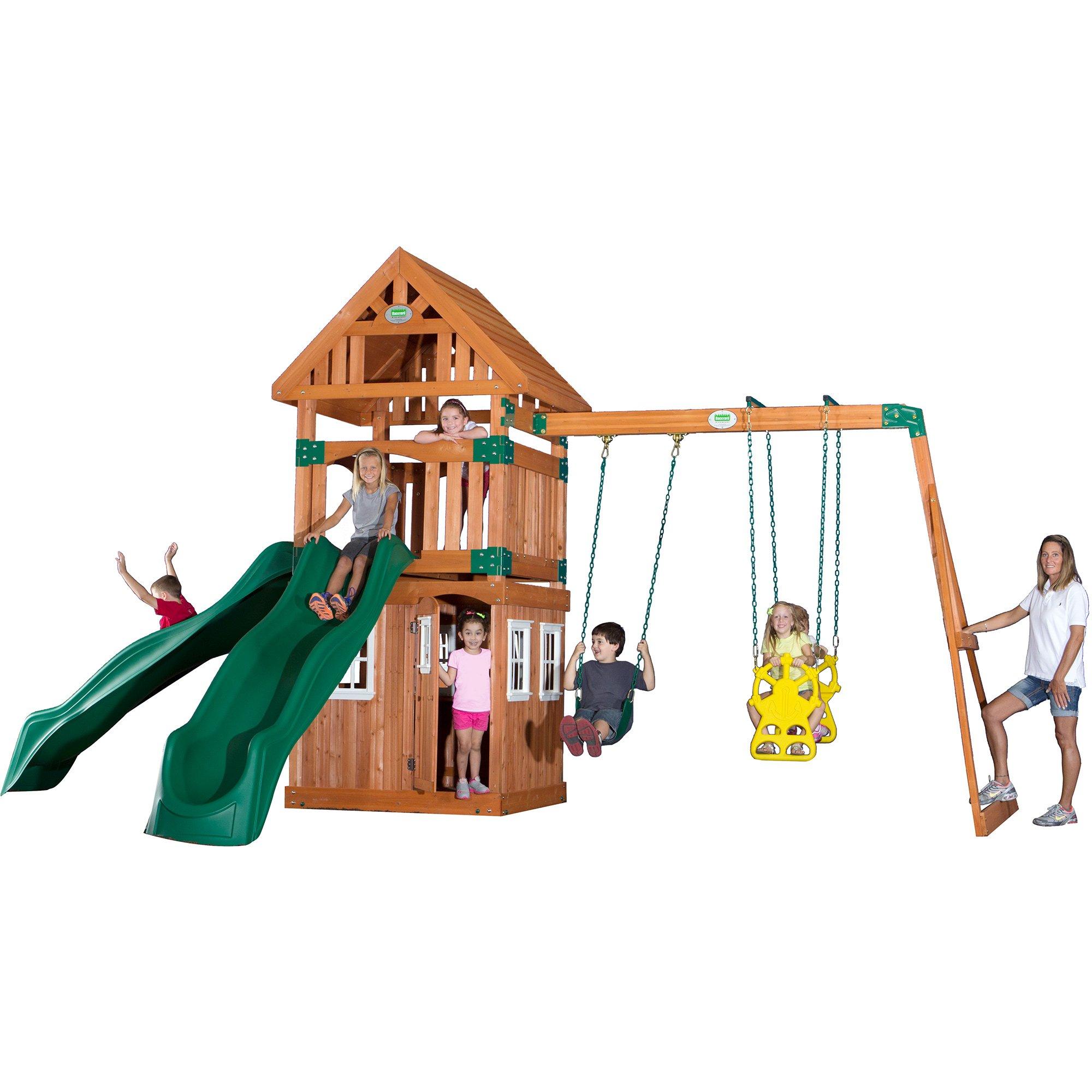 Backyard Discovery Sonora Cedar Wood Swing Set | Homideal