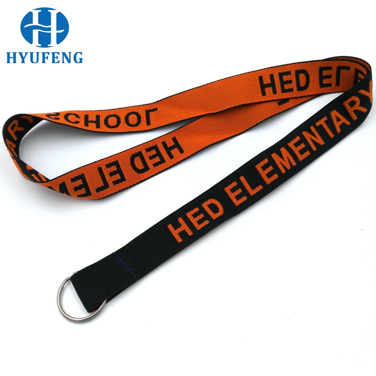 OEM Professional Woven Lanyards With Metal Chain For Keys